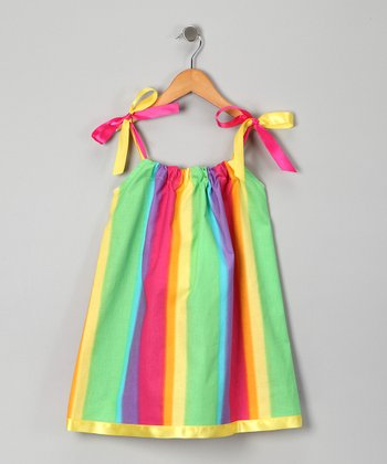 Pink Rainbow Swing Dress - Infant, Toddler & Girls