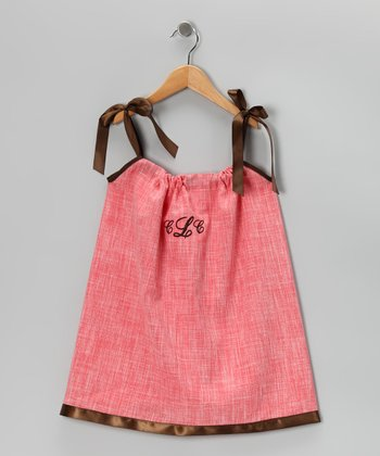 Coral Monogram Swing Dress - Infant, Toddler & Girls