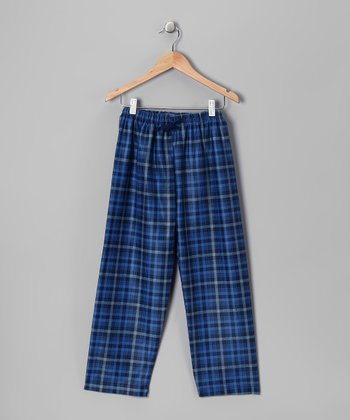 Blue Bentley Plaid Pajama Pants - Boys