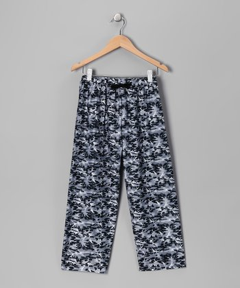 Black Camo Pajama Pants - Boys