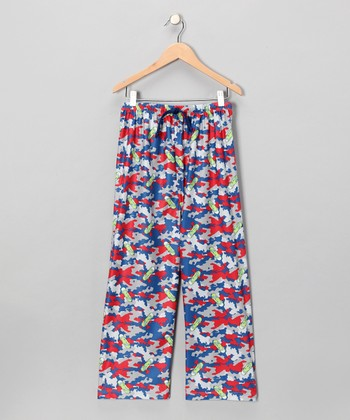 Gray Camo Skateboard Pajama Pants - Boys