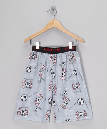Gray Soccer Pajama Shorts - Boys