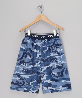 Steel Camo Pajama Shorts - Boys