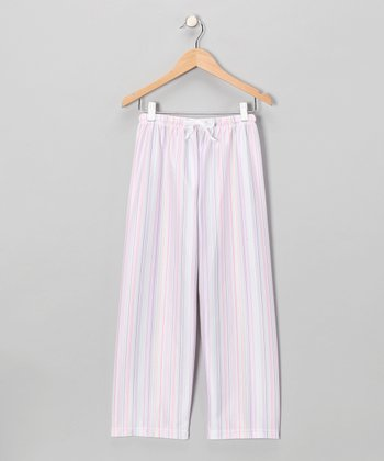 Lilac Stripe Pajama Pants - Girls