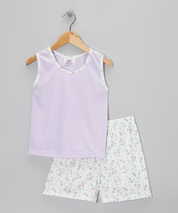 Lilac Kate Pajama Set - Toddler & Girls