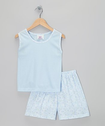 Blue Jenny Pajama Set - Toddler & Girls
