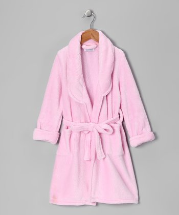Cozytime Pink Plush Bathrobe - Girls