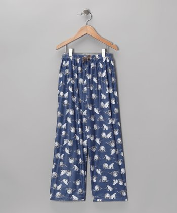 Blue Polar Bear Pajama Pants - Boys