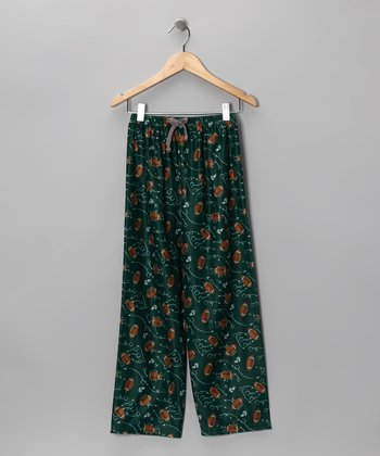 Green Game Plan Pajama Pants - Boys