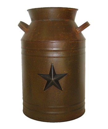 Rustic Star 13'' Milk Can