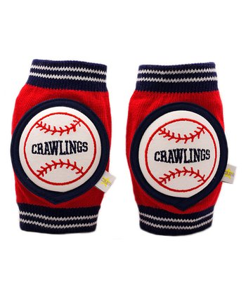 Red Baseball Knee Pads
