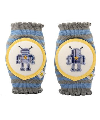 Silver Stripe Screen Robot Knee Pads