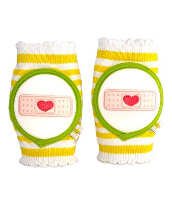 Yellow Stripe Bandage Knee Pads