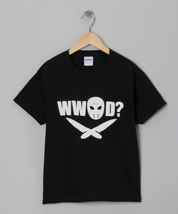 Black What Would Jason Do Tee - Kids & Adult