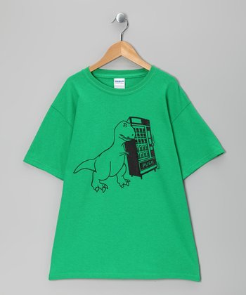Green T-Rex Vending Tee - Boys & Adult
