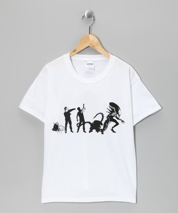 White Alien Evolution Tee - Kids & Adult