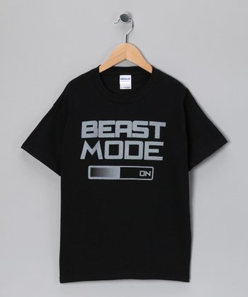 Black 'Beast Mode' Video Game Tee - Kids & Adult