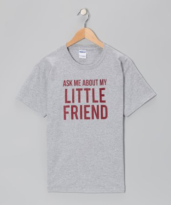 Heather Gray 'Ask Me About My Little Friend' Flip-Up Tee - Kids & Adult