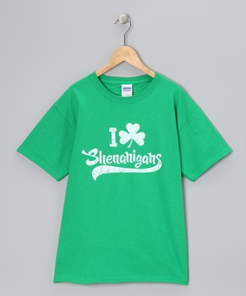 Green 'Shenanigans' Tee - Boys & Adult