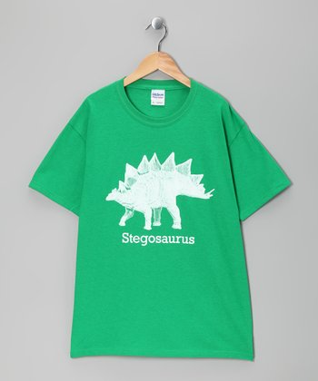 Green Stegosaurus Tee - Kids & Adult