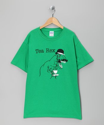 Green 'Tea Rex' Tee - Kids & Adult