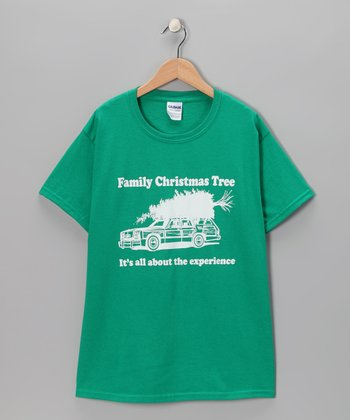 Green 'Family Christmas Tree' Tee - Kids & Adult