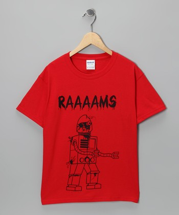 Red Zombie Robot Tee - Kids & Adult