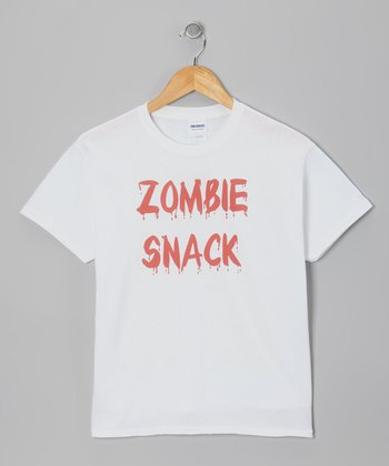 White 'Zombie Snack' Tee - Kids & Adult