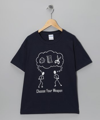 Navy 'Choose Your Weapon' Tee - Kids & Adult