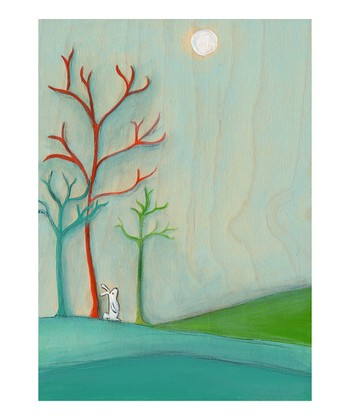 A Bunny Sees Hope in the Moon Print