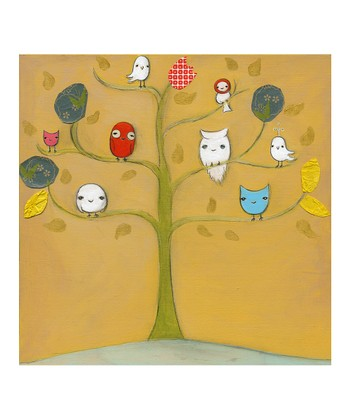 Owl Friends & A Bird Print