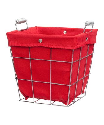 Red Waste Basket