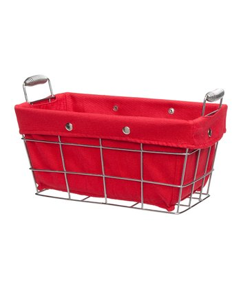 Medium Red Storage Basket