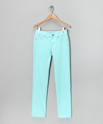 Aqua Skinny Pants - Girls