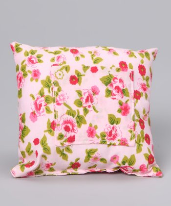 Cricket & Monkey Pink Floral Tooth Fairy Pillow