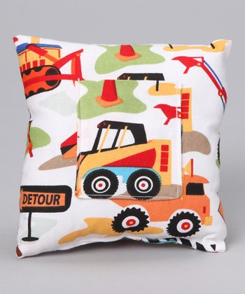 Cricket & Monkey Orange Cars Tooth Fairy Pillow