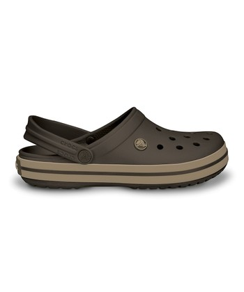 Espresso & Khaki Crocband™ Clog - Women & Men