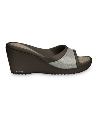 Espresso & Mushroom Sately Wedge - Women