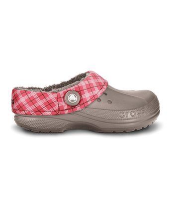 Mushroom & Black Winter Plaid Clog - Men & Women