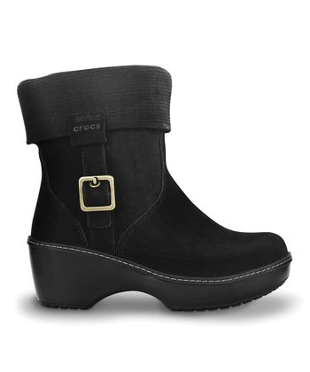Black Crocs Cobble Ankle Boot - Women