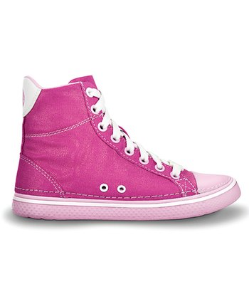 Fuchsia & Bubble Gum Hover Hi-Top Sneaker - Kids