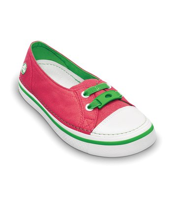 Watermelon & Lime Metallic Hover Skimmer Slip-On Sneaker - Kids