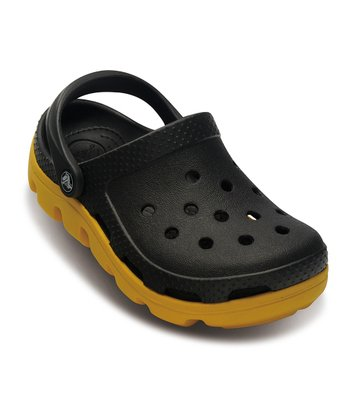 Graphite & Yellow Duet Sport Clog - Kids