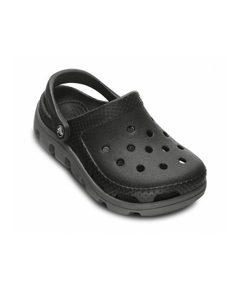 Black & Charcoal Duet Sport Clog - Kids