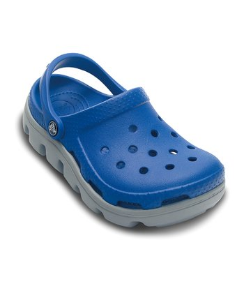 Sea Blue & Light Gray Duet Sport Clog - Kids