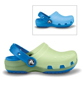 Celery & Sea Blue Chameleons Clog - Kids