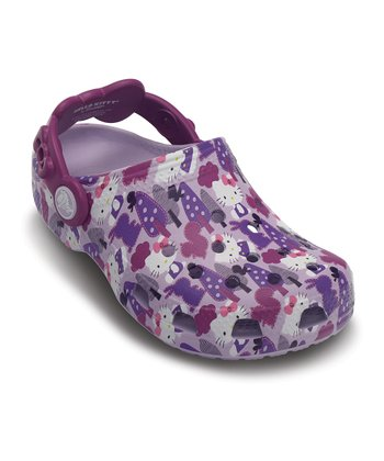 Lavender & Viola Classic Hello Kitty Forest Clog - Kids