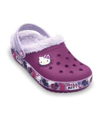 Viola & Lavender Hello Kitty Mammoth Clog - Kids