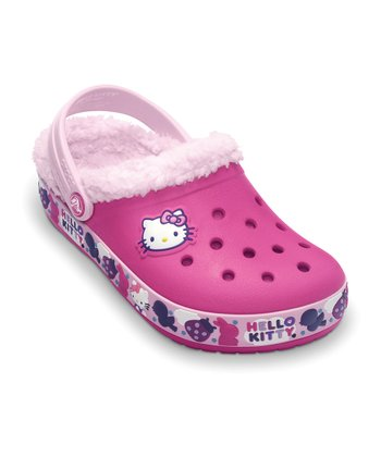 Fuchsia & Bubble Gum Hello Kitty Mammoth Clog - Kids