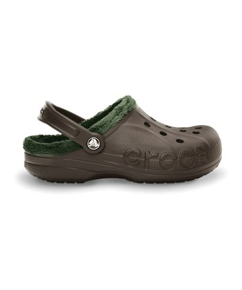 Espresso & Forest Baya Fleece Clog - Men & Women